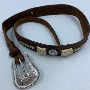 "Justin belt 30"" leather vintage classic western"